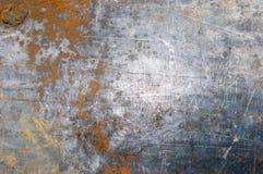 Rostig texturerad metall för gammal målarfärg royaltyfria foton
