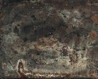 Rostig texturerad metallbakgrund för tappning Tonad Retro stil Royaltyfria Foton
