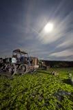 rostig traktor Arkivbild