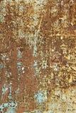 rostig vägg för metall Arkivbilder