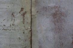 rostig vägg för metall Gammal rostig metallplategrungetextur Royaltyfria Bilder