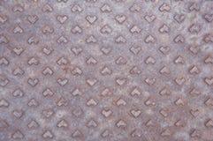 Rostig vägg för stålgolv. fotografering för bildbyråer
