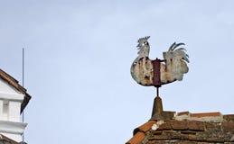 rostig weathercock Arkivbilder
