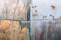 rostig yttersida för metall Arkivfoto