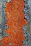 rostig yttersida för sprucken metall royaltyfria foton