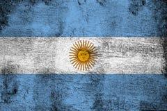 Rostiga Argentina och grungeflaggaillustration vektor illustrationer
