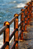 rostiga barriärer Fotografering för Bildbyråer