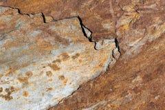 Rostiga, bruna, gråa skrapade naturliga asfulla texturerade bakgrunder Fotografering för Bildbyråer