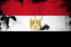 Rostiga Egypten och grungeflaggaillustration royaltyfri illustrationer