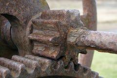 Rostiga kugghjulhjul Royaltyfria Foton