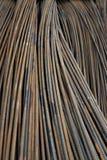 Rostiga metallstänger Arkivfoto