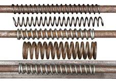Rostiga metallvårar Fotografering för Bildbyråer