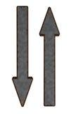Rostiga pilar Arkivfoton