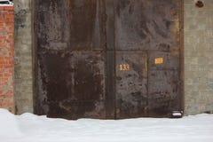Rostiga portar för järn Royaltyfri Fotografi