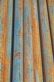Rostiga runda stålstänger Royaltyfri Bild