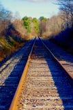 Rostige alte Bahnstrecken Lizenzfreies Stockfoto