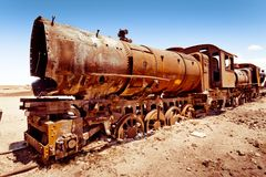 Rostige alte Dampfserie Stockfoto