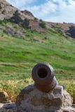 Rostige alte Kanone, zum von Kernen abzufeuern Lizenzfreie Stockfotos
