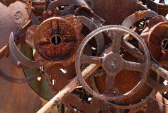 Rostige alte Maschinerie Stockfotos