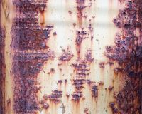Rostige alte Metalloberfläche Lizenzfreies Stockbild