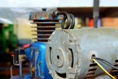 Rostige alte Motoren Stockfoto