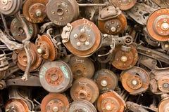 Rostige Automobil-Teile stockfotografie