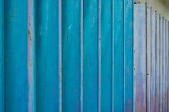 Rostige blaue Metalltürweinlese-Artbeschaffenheit Lizenzfreie Stockfotografie