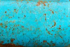 Rostige blaue Metallwand Lizenzfreie Stockbilder
