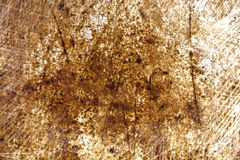 Rostige Blechoberfläche in den Kratzern Lizenzfreie Stockbilder