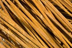 Rostige Eisengestängenahaufnahme lizenzfreies stockfoto