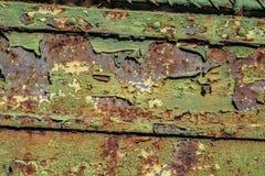 Rostige gealterte Schmutzgrün-Metalloberflächenbeschaffenheit in schlechter Zustand lizenzfreie stockfotos
