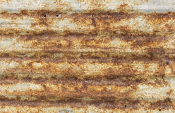 Rostige gewölbte Metalldeckungsbeschaffenheit Lizenzfreies Stockfoto