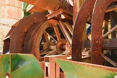 Rostige industrielle Maschine Rostige Teile nahaufnahme Stockfotos
