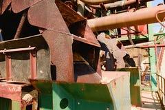 Rostige industrielle Maschine Rostige Teile nahaufnahme Stockfotografie