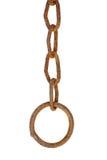 Rostige Kette mit einem Ring Lizenzfreies Stockbild