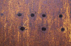 Rostige Metallbeschaffenheit stockfotografie