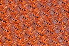 Rostige Metallplattenbeschaffenheit Stockbilder