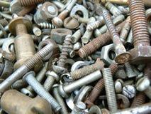 Rostige Metallverbindungselemente Lizenzfreie Stockfotos