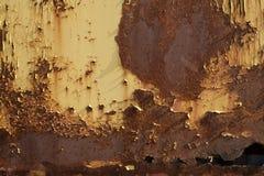 Rostige Metallwand Alte rostige Metall-plategrunge Beschaffenheit Stockbilder