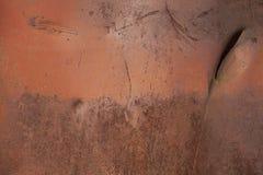Rostige Metallwand Alte rostige Metall-plategrunge Beschaffenheit Lizenzfreie Stockfotografie
