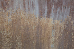 Rostige Metallwand Alte rostige Metall-plategrunge Beschaffenheit Lizenzfreies Stockbild