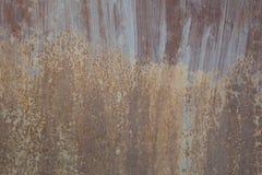 Rostige Metallwand Alte rostige Metall-plategrunge Beschaffenheit Stockfoto