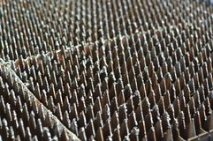 Rostige schmutzige Industriemetallspitzen Lizenzfreies Stockfoto
