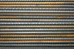 Rostige Stahlgebäudearmatur Stockbild