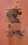 Rostige Stahlplatte der Falte Stockbilder