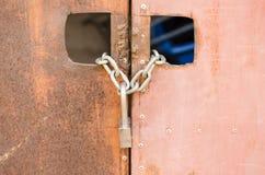 Rostige Tür Lizenzfreies Stockfoto