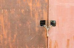 Rostige Tür Stockfoto