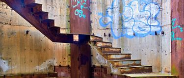 Rostige Treppe Stockfoto