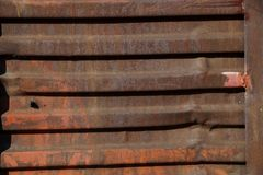 Rostige Wand des Bahnautos Lizenzfreie Stockfotografie
