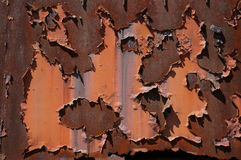 Rostige Wand, Hintergrund Stockbild